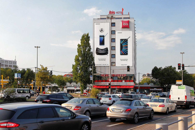 Limes Vertriebsgesellschaft Riesenposter am Messedamm von Samsung